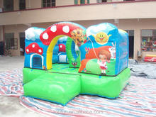 Cartoon good looking kits mini inflatable jumping bouncer house