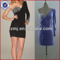 single sleeve beaded prom dress 2013