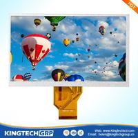 24 bit rgb 800*480 tv 7 inch taiwan lcd manufacturer