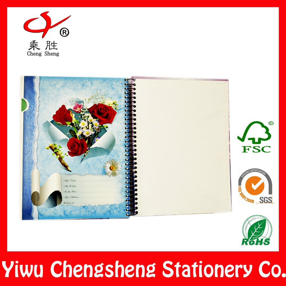 Excellent chinese character floral notebook