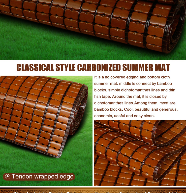 Safety Chinese bamboo summer cooling sleeping mat