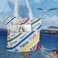 2015 new design cotton canvas tote rope long handle beach bag