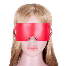 Sexy PU Leather Bondage Sex Eye Mask for Women Adult Game Blindfold Blind Sex Restraints Toys