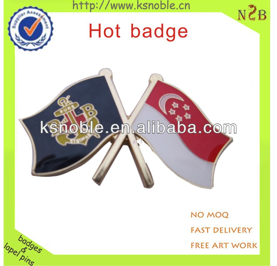 Custom national flags lapel pins