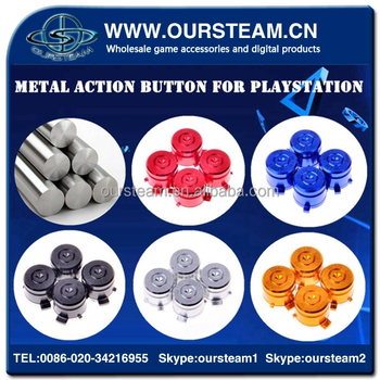 Metal bullet button for games PS4 controller gold action buttons