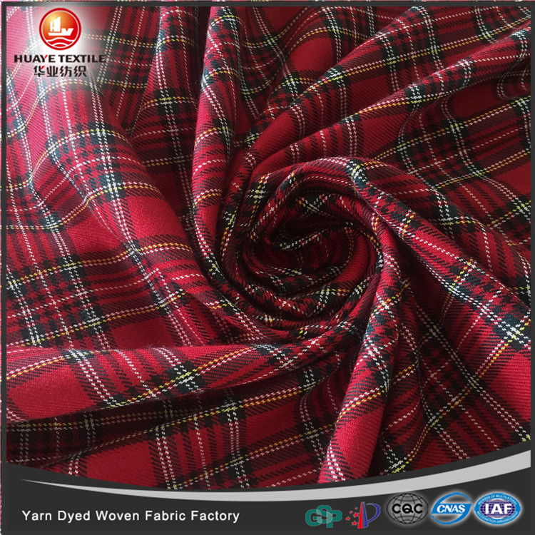 2017 new design TR red plaid plaid fabric for school uniforms