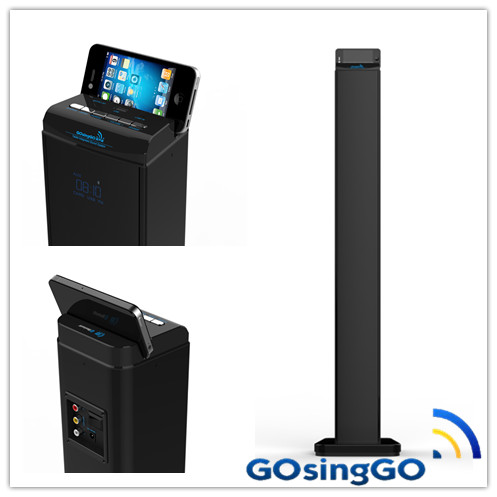 stereo tower speakers WITH LED wireless bluetooth speaker and Built-in Subwoofer