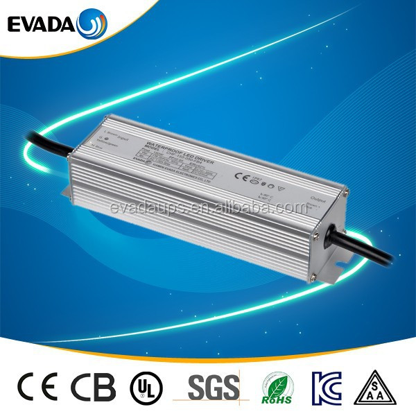 Waterproof IP67 LED Boost Driver/Power Supply 45W 600mA 75Vdc