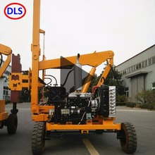 full hydraulic highway guardrail pile driver machine