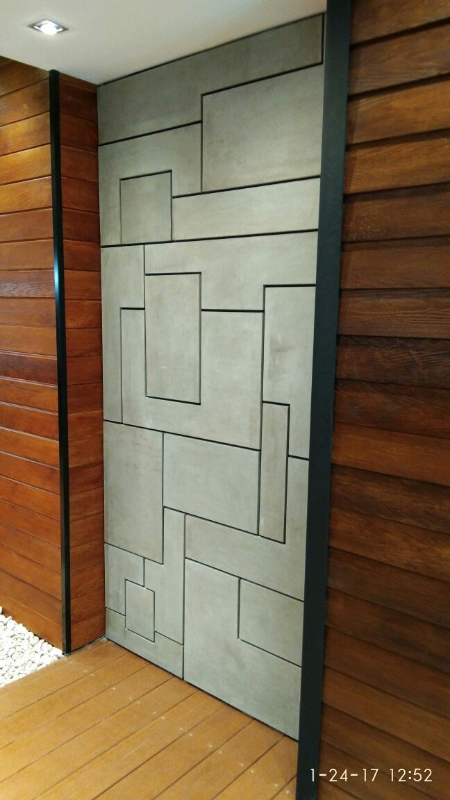 Bathroom or kitchen indoor decoration plain concrete 3D tiles front wall