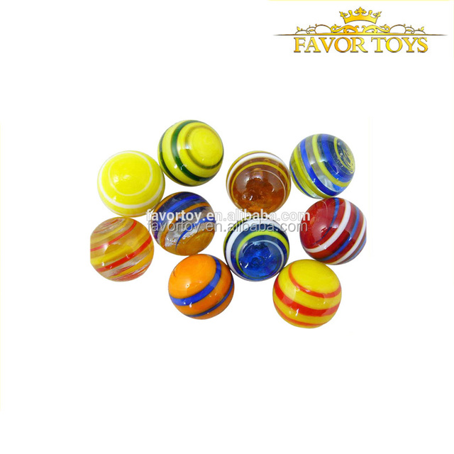 25MM 20pcs in bag Wholesale china kids round play glass marbles toy
