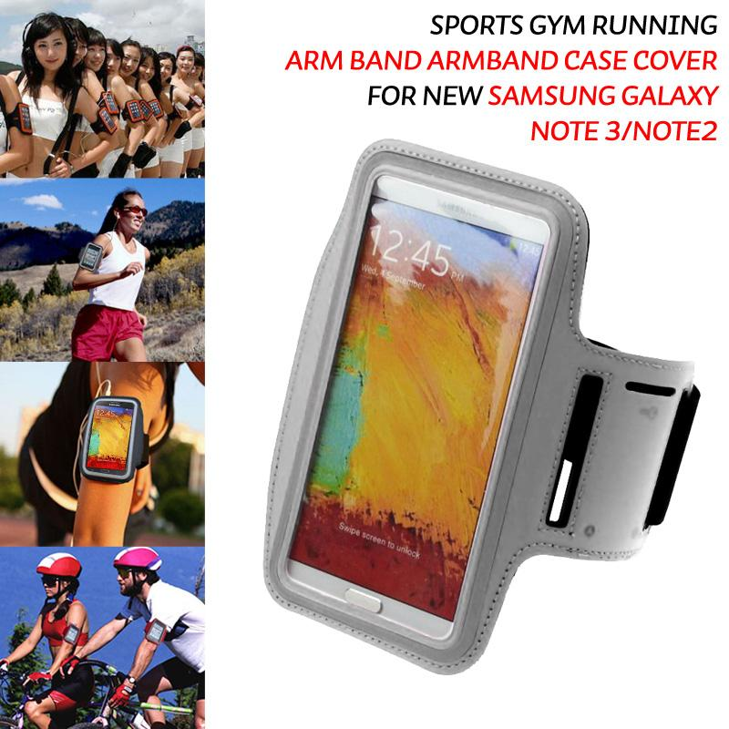 Sports Jogging Gym Armband Case Cover Pouch for Apple iphone Samsung Galaxy Note 3 N9000 HTC