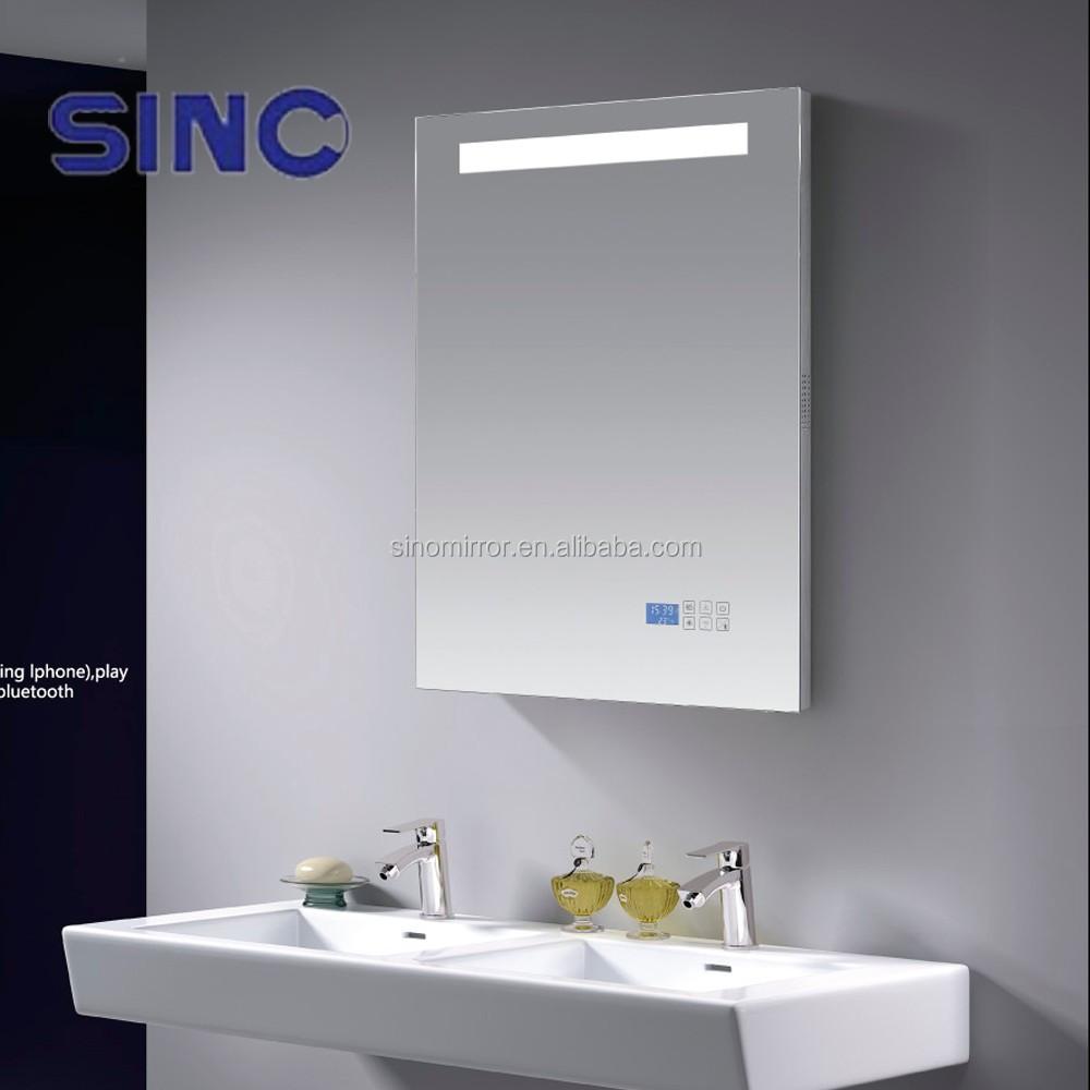Led Bathroom Mirror With Mp3/bluetooth/radio/clock/temperaturer ...