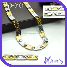 Generous Stainless Steel Two Tones Chain Necklace Jewelry Wholesale