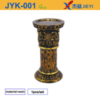 Cast iron chinese lantern fancy bulb holder, foil candle holder