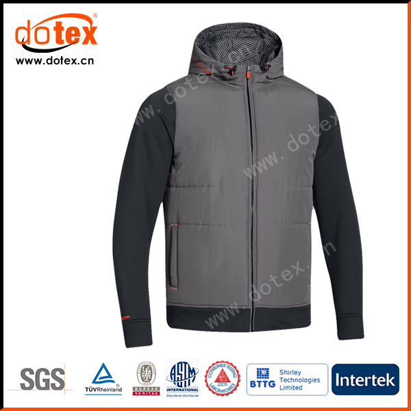 Thermal windproof waterproof nylon shell quilted padded winter jacket