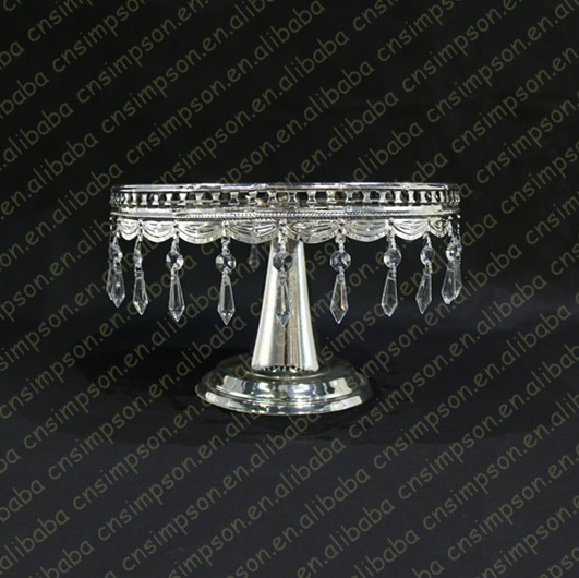 Silver crystal bling cake stand for wedding decoration