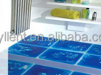 Royllent polycarbonate resin liquid 3d floors indoors non-slip mats 500*500mm