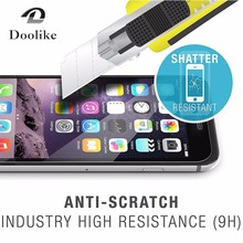 Anti fingerprint 2.5D round edge 9H 0.33mm Clear tempered glass Screen Protector for iPhone 6/ 7 wholesale