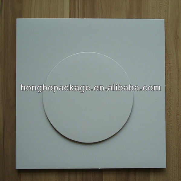 white grease proof corrugated cake board pad