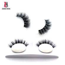ZM mink top quality <strong>flat</strong> false eyelash extensions soft individual mink eyelash