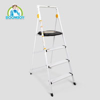 HOME PRODUCT 4 STEP ALUMINUM FOLDING STEP LADDER