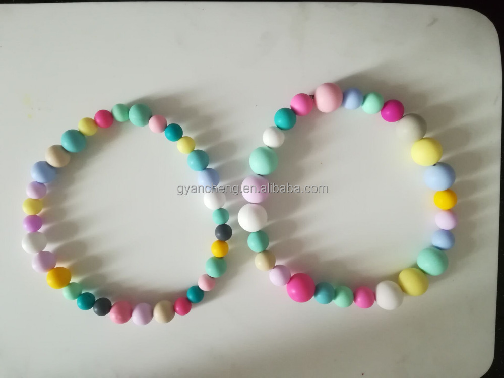 Wholesale Free Fashion Silicone Bead Rosary Necklace