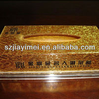 Golden Acrylic Tissue Box Costomized Handmade