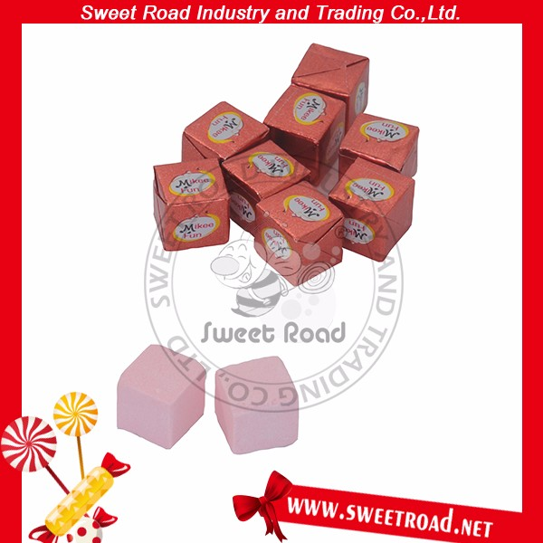 Confectionary Individually Packed Cube Milk Candy