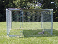 Durable pet enclosure lucky dog kennel with chain link wire mesh