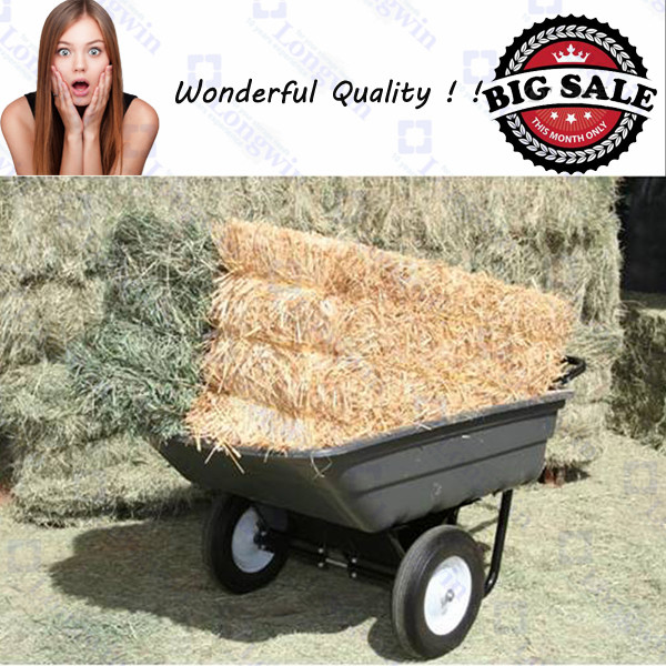 tow behind tipper trailer ATV Quad Four Wheeler Cart grande