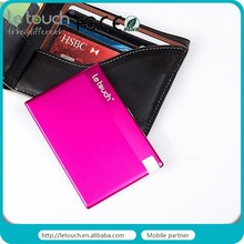 805mAh/1350mAh Credit Card Size Power Bank with built-in Micro cable