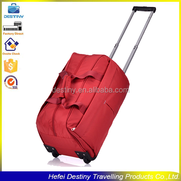 large capacity handle travel sports duffle bag trolley