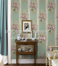 new flower design pvc wallpaper for home decoration deep embossed wallpapers wall paper