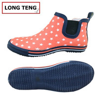 brands ladies rubber garden shoes polka dot design