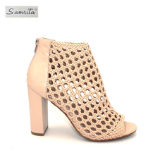 Latest new model fashionable design ladies bohemian heel sexy women sandals shoes