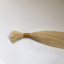 24''blonde color 100% pure Virgin Indian Temple Hair, cheap unprocessed indian hair bulk