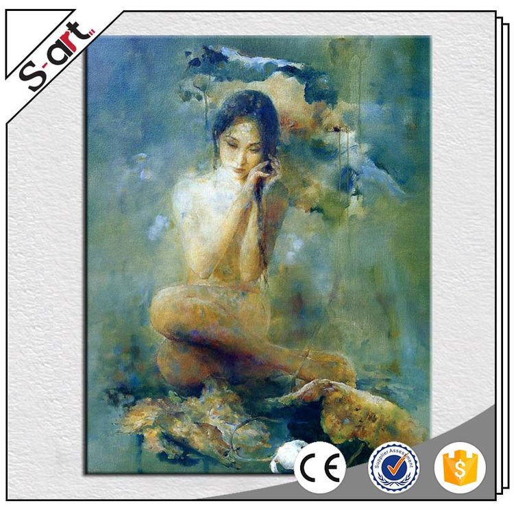 Promotional best-selling chinese nude girl oil painting style