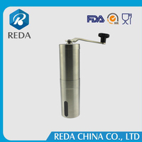Wholesale Premium Stainless Steel Body Adjustable Ceramic Conical Burr Hand Coffee Grinder