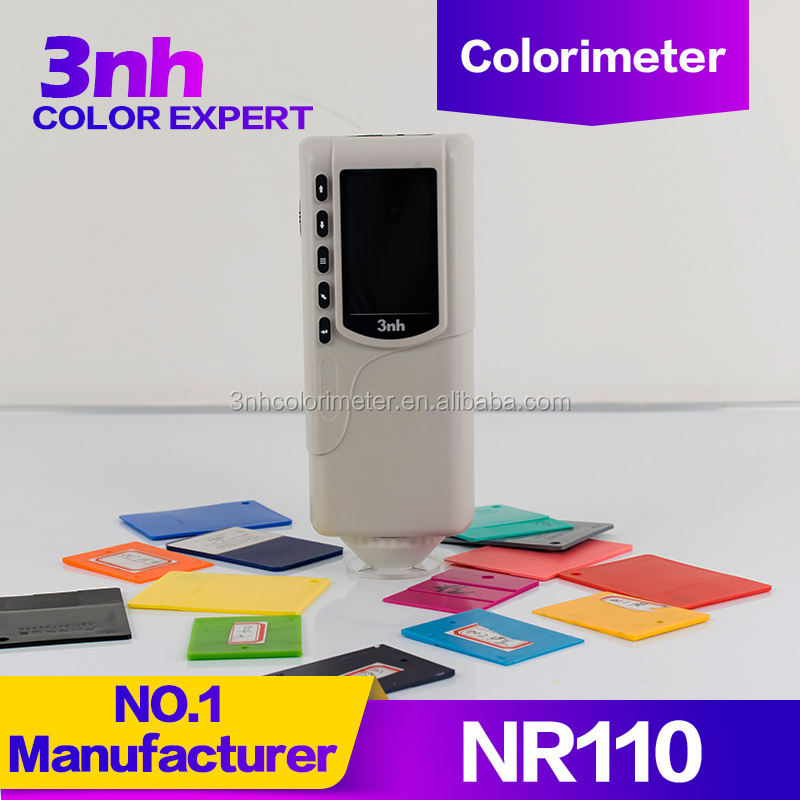 3nh/TILO Colorimeter NR110 most cost-effective colorimeter with double <strong>measurement</strong> use in plastic/comestic/textile/paint