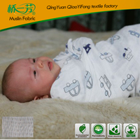 screen printed flower custom infant cotton muslin swaddle 2 mink ply chinese blanket