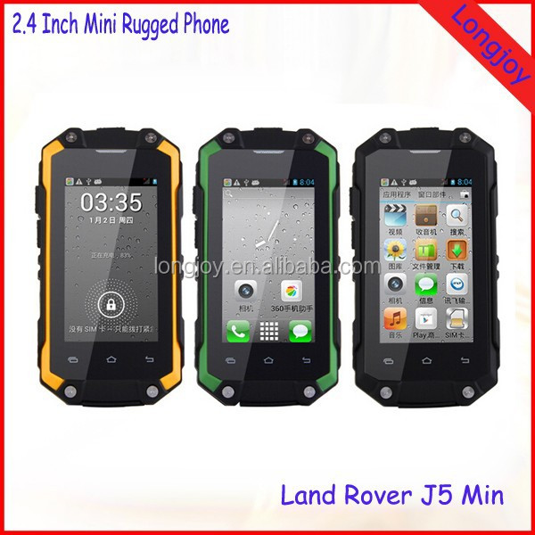Cheap Mini 3G Rugged Mobile Phone 2.4 Inch TFT Screen Dual Sim Android 4.2 Wifi