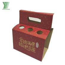 custom printed red logo corrugated cardboard wine box