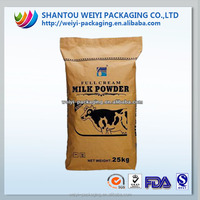 custom full cream milk powder 25kg bags with label printing