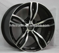 New design matt black car alloy wheels / aluminum car mag wheel rim