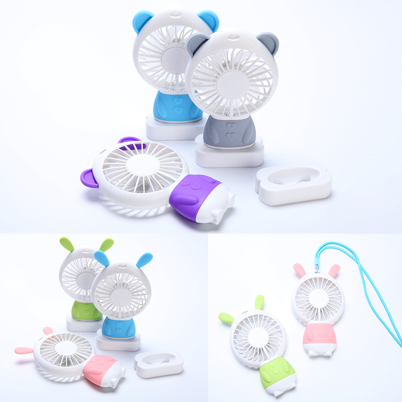 2018 hot sell summer air cooling Lithium Battery usb fan Portable Rechargeable mini usb portable mist fan