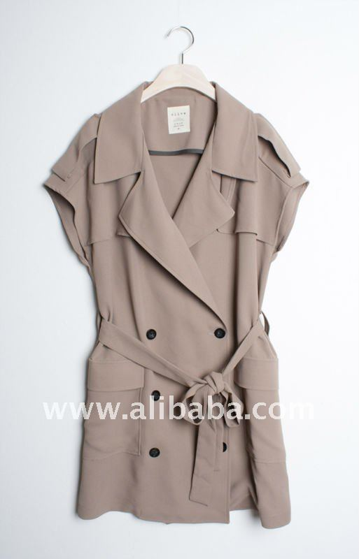 Half Sleeved-Chic Trench Coat_Womens Fall/Winter