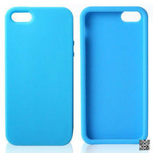 simple design blue color silicone phone cover for 5/5G case