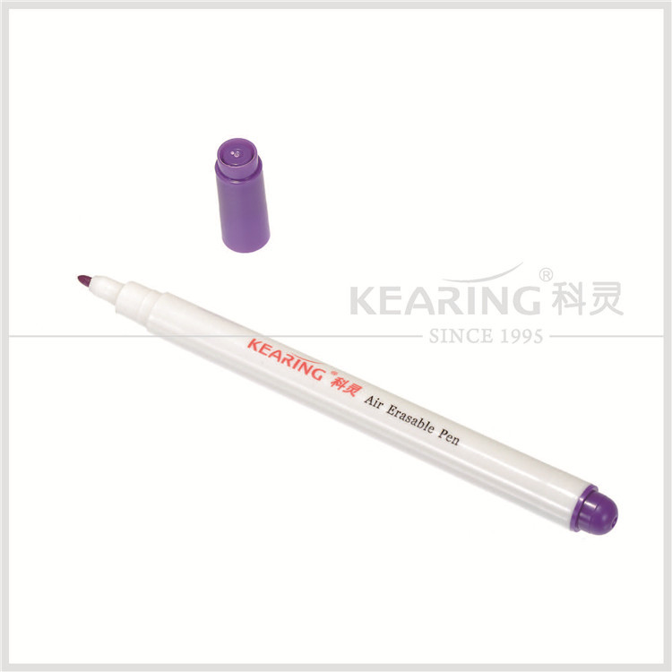 Kearing auto vanishing marker pen violet ink 1.0mm tip air erasable chalk marker for sewn tailors