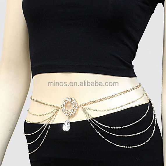 New Design Waist Chain Crystal Necklace Chain